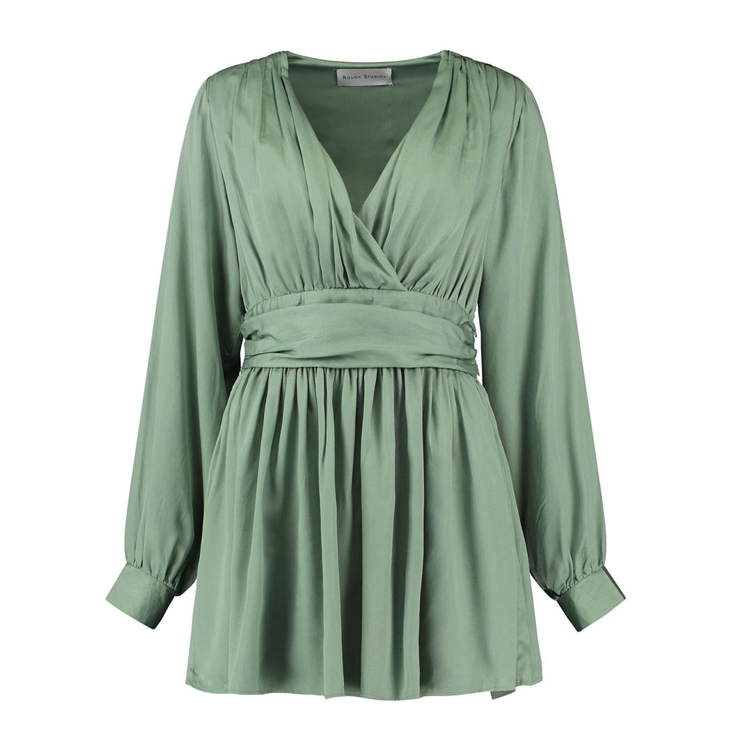 Ramona Dress - Green-1