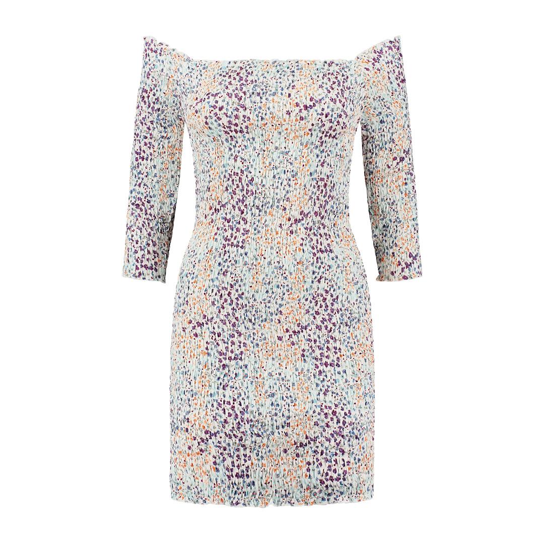 Ronette Dress - Multicolor Flower-1