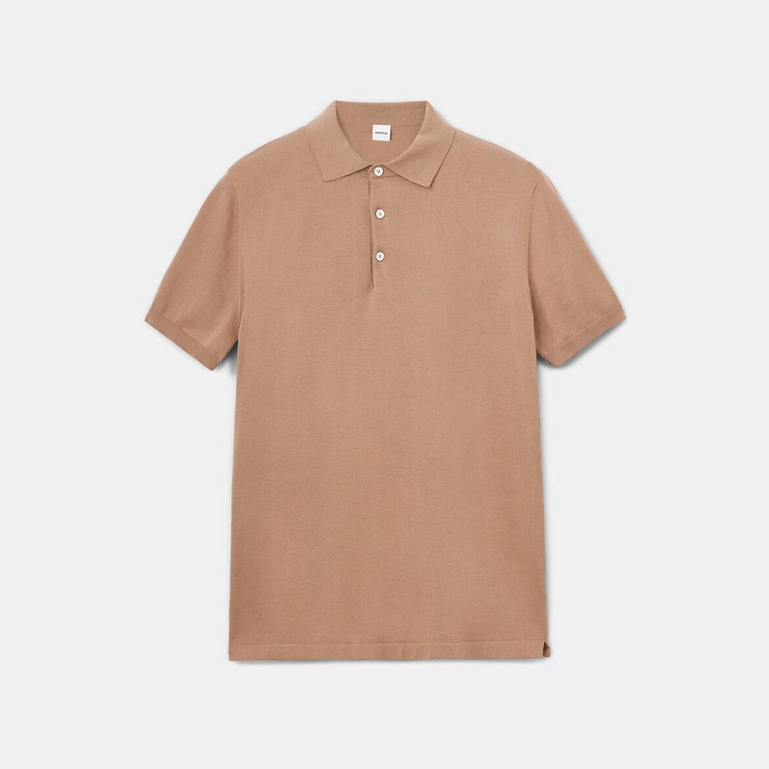 Knit Polo - Beige-1