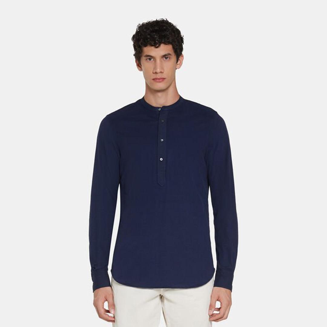 Jersey Polo Shirt - Blue-2
