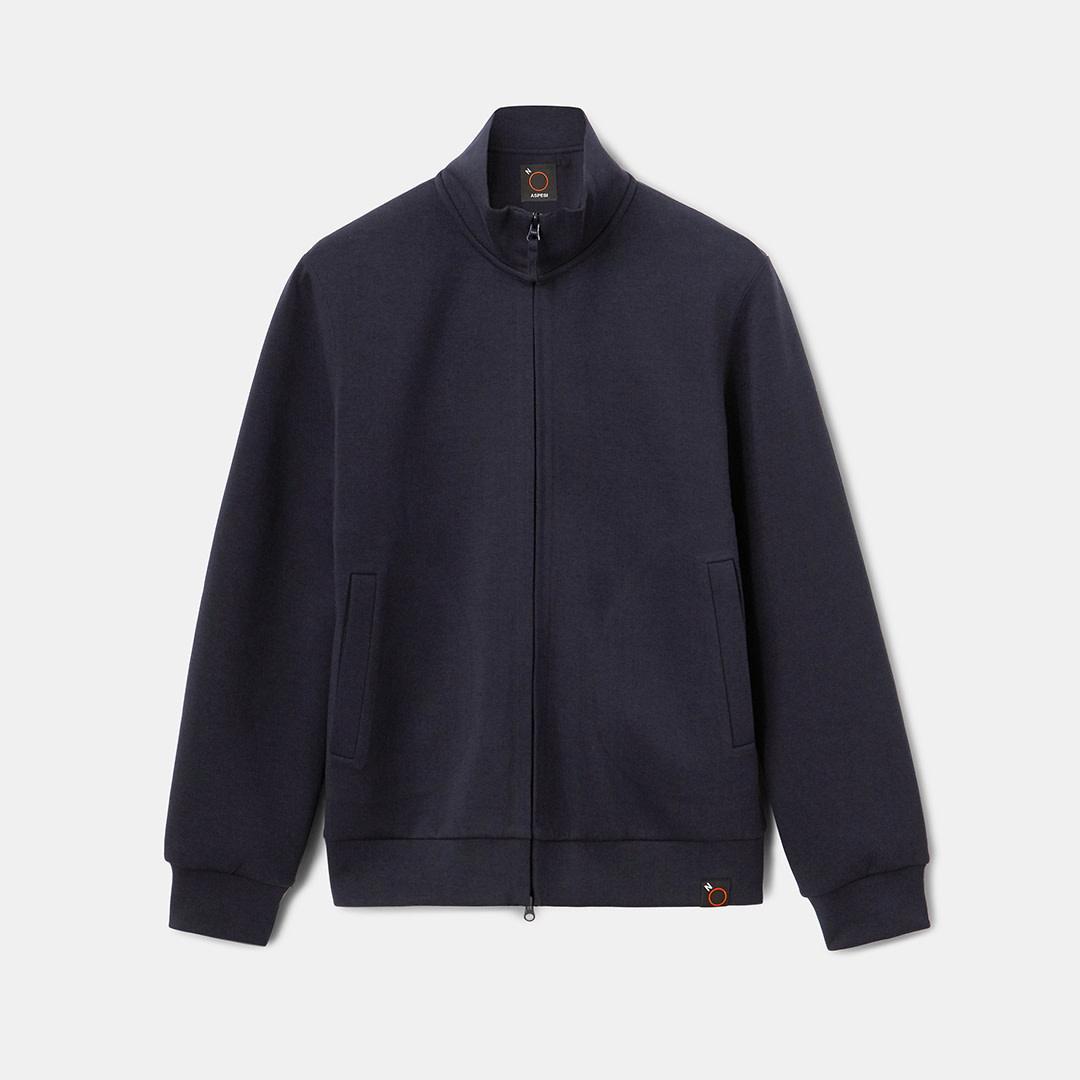 Sweatshirt Jacket - Navy-1