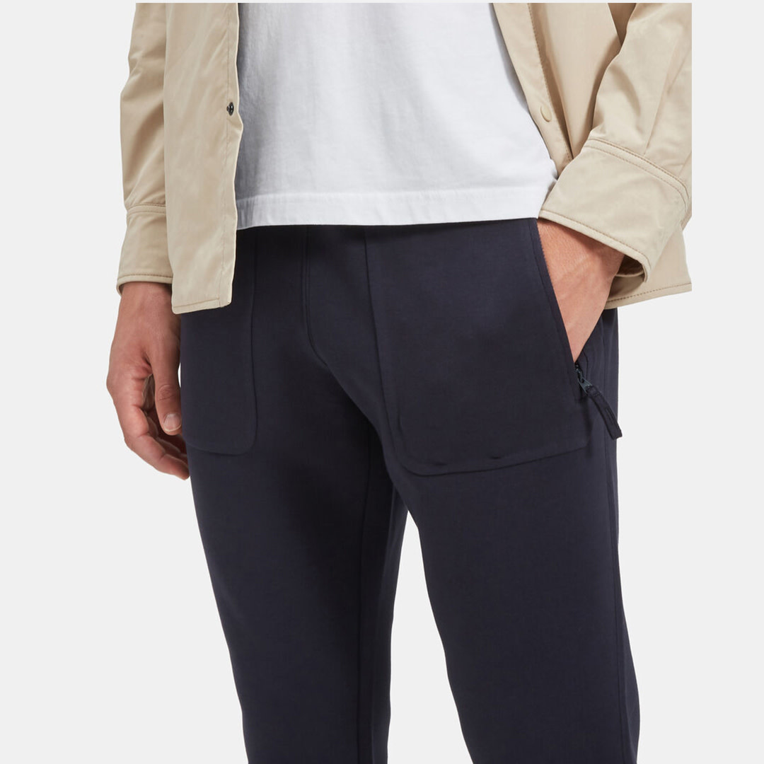 Jersey Trousers - Navy-2