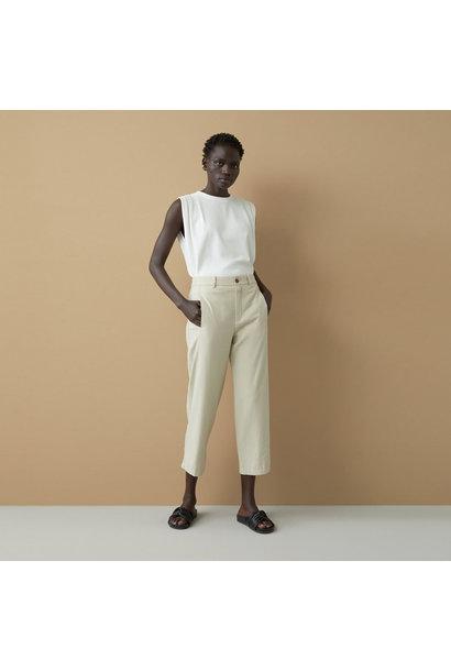 Linen Cotton Blend Pants - Shiitake