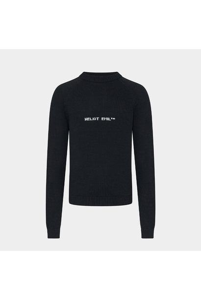 Logo Knit Sweater - Black