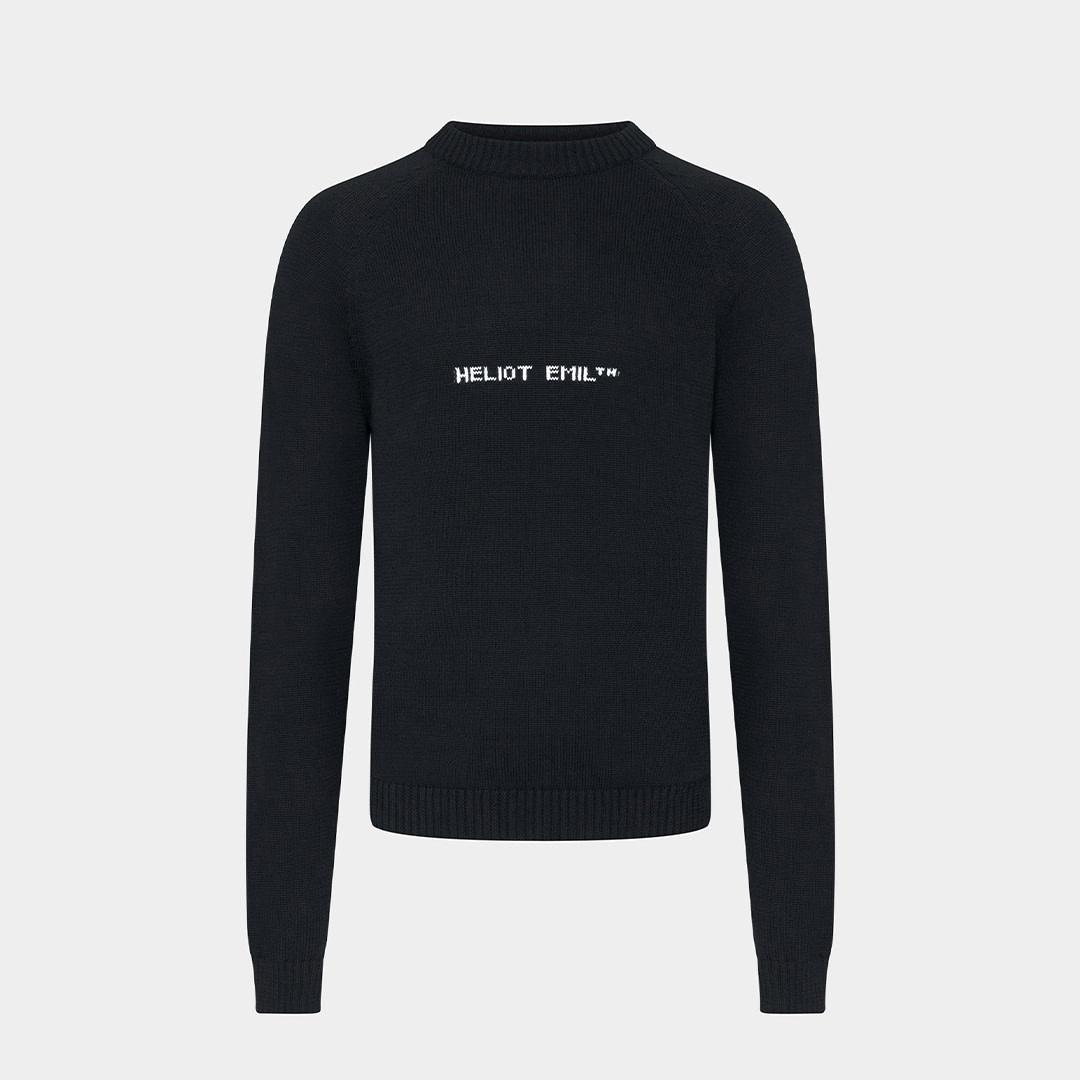 Logo Knit Sweater - Black-1
