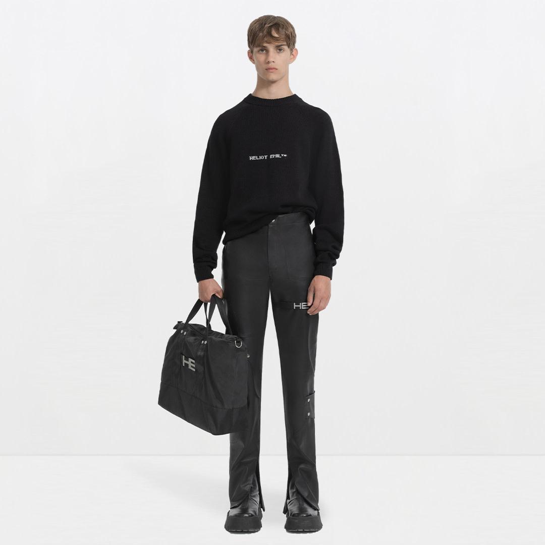 Logo Knit Sweater - Black-2