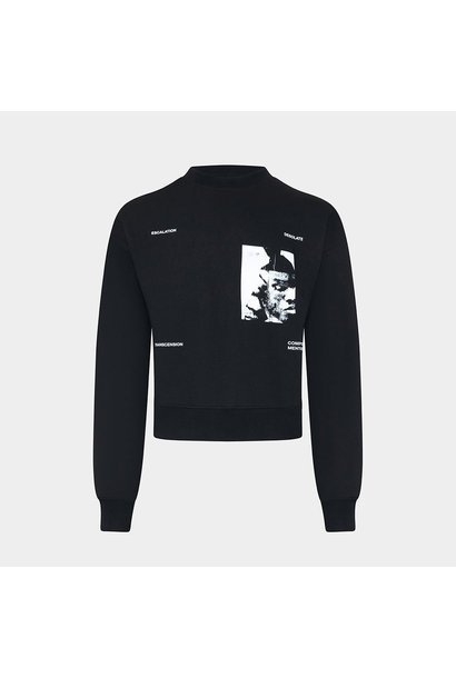 Printed Sweater - Black