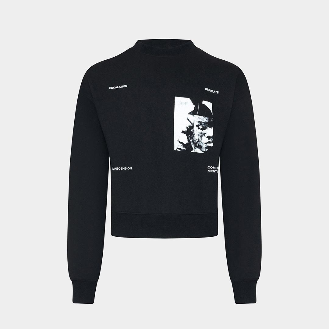Printed Sweater - Black-1