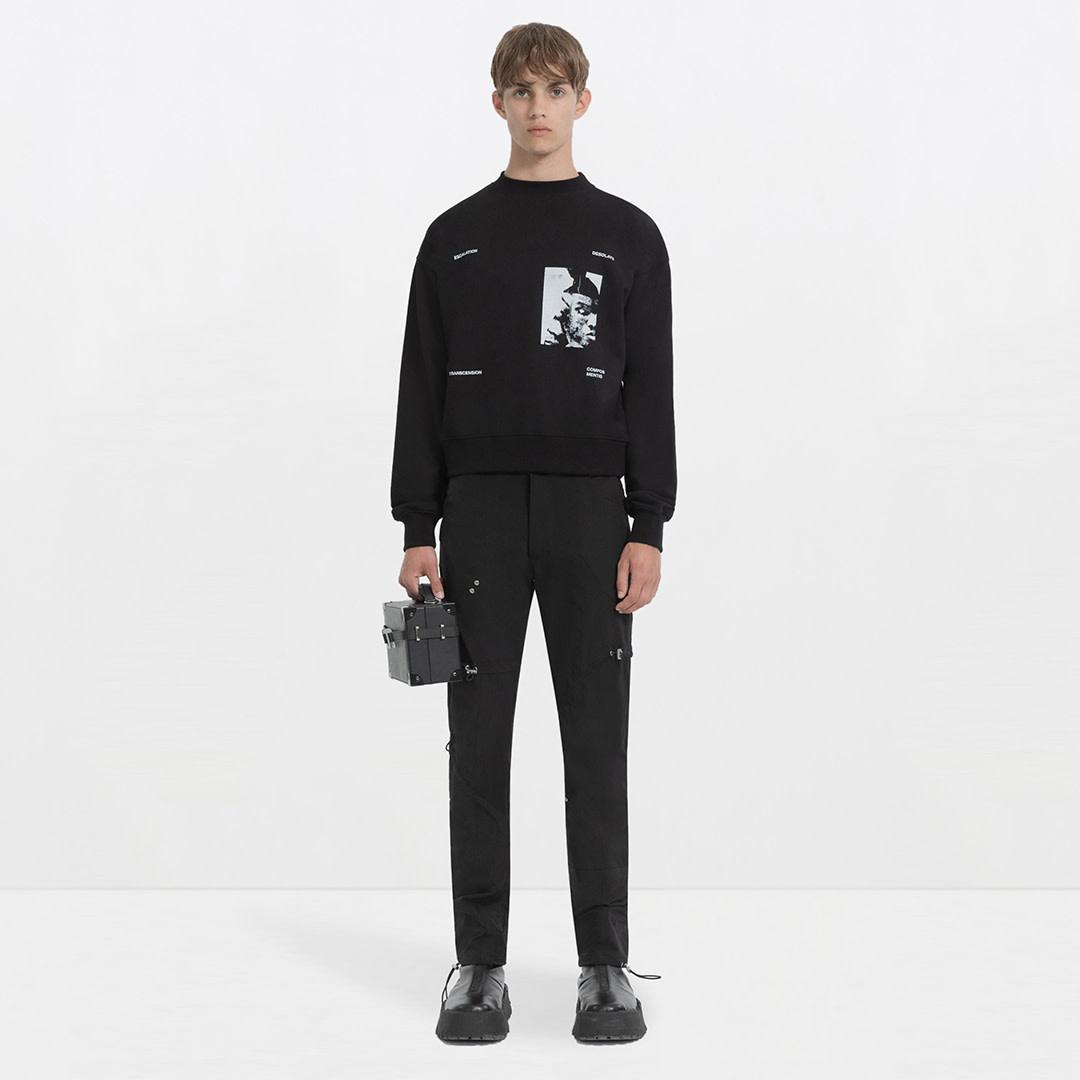 Printed Sweater - Black-2