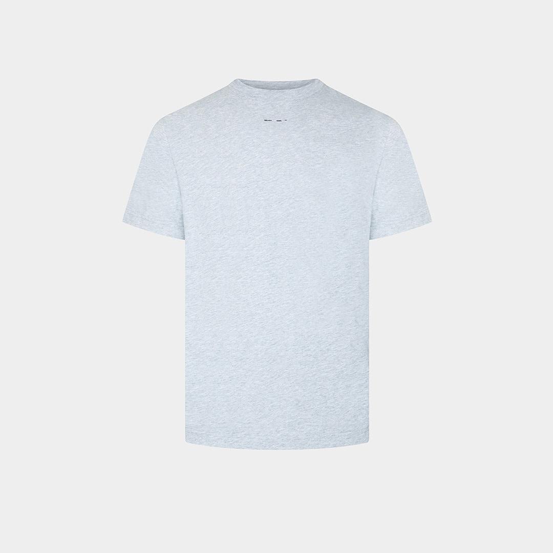 Logo Printed T-shirt - Grey Melange-1