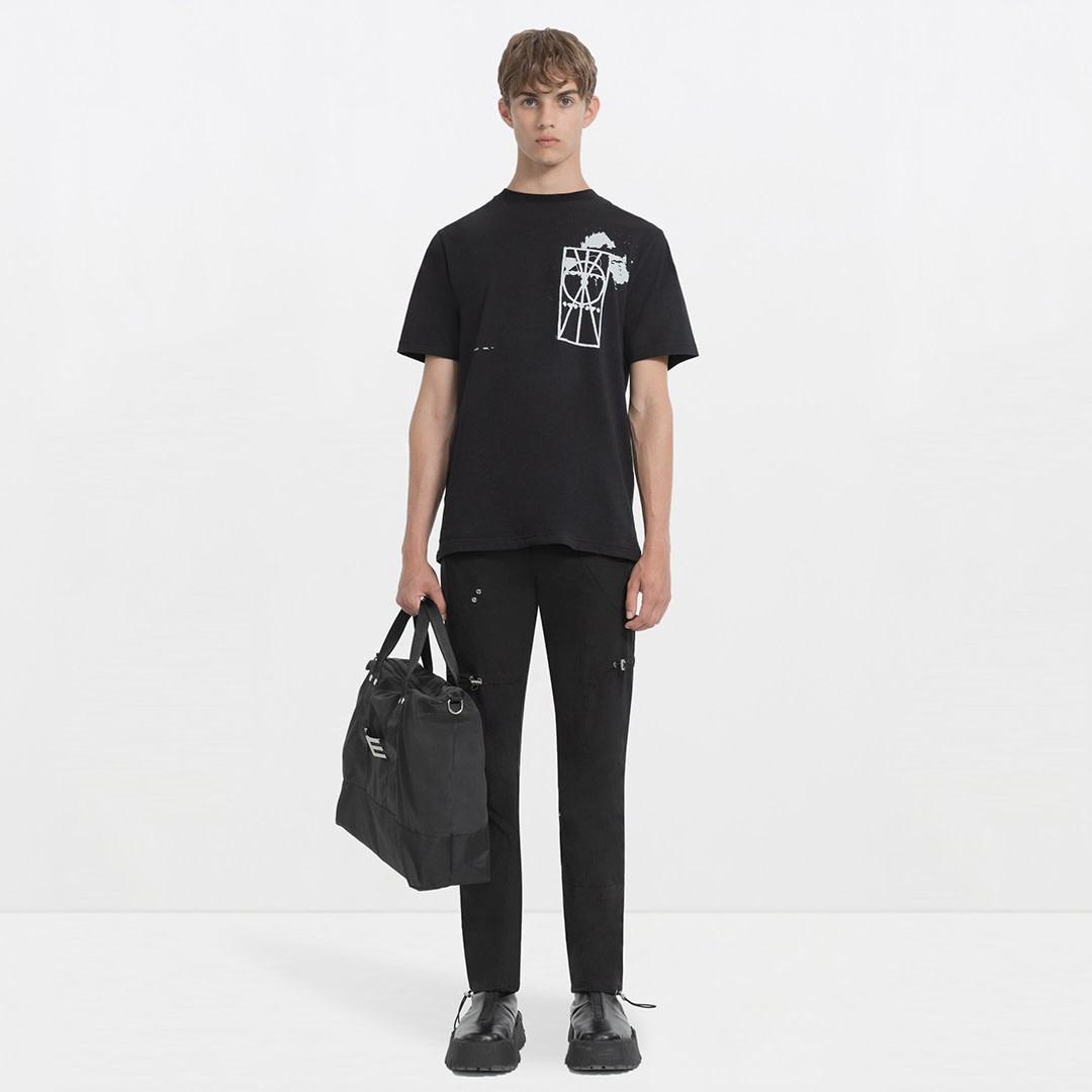 Printed T-shirt - Black-2