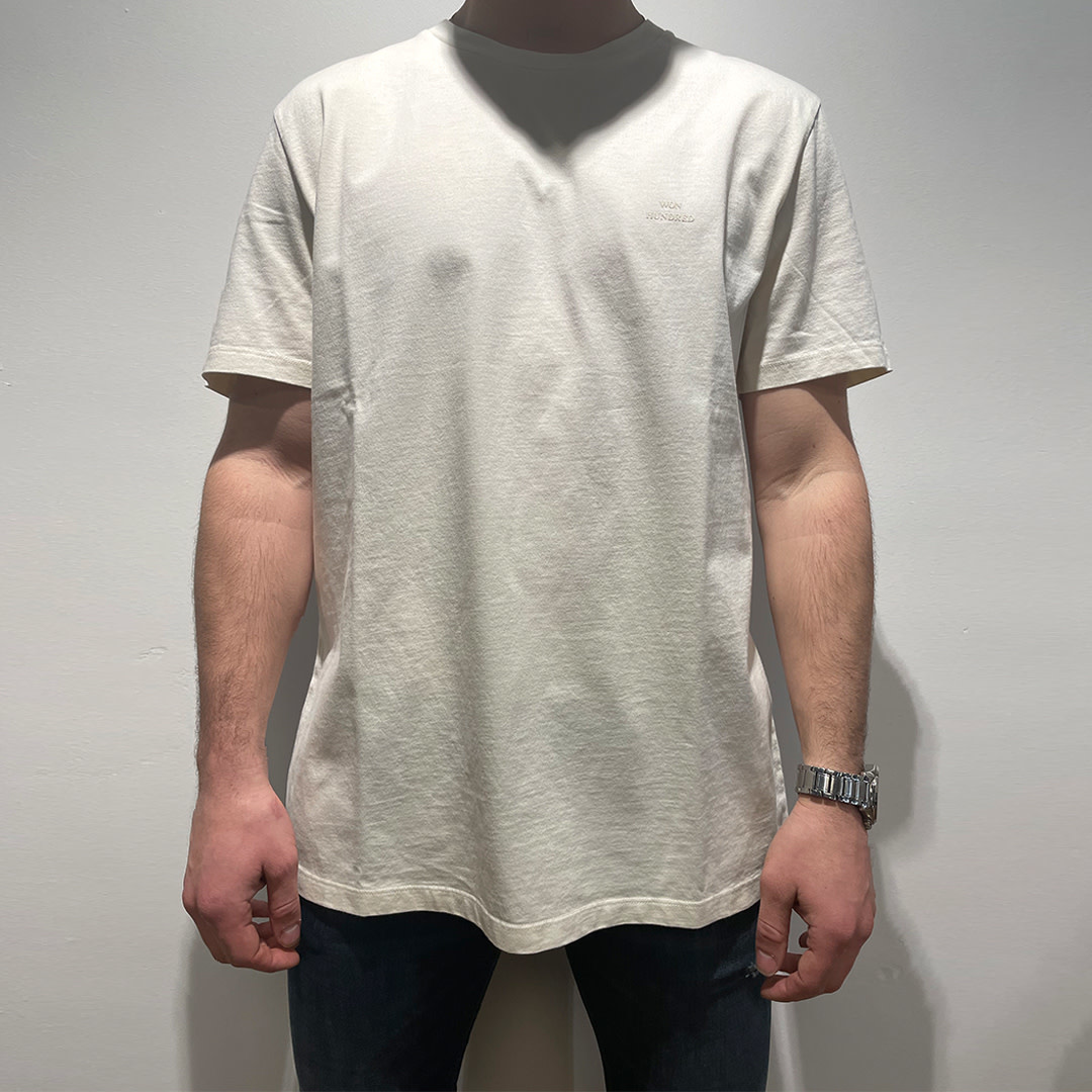 Troy Rubber T-shirt - Cannoli Cream-1