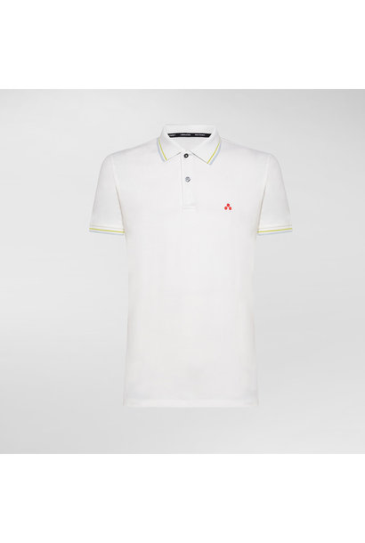 Polo T-shirt In Stretch Cotton - White