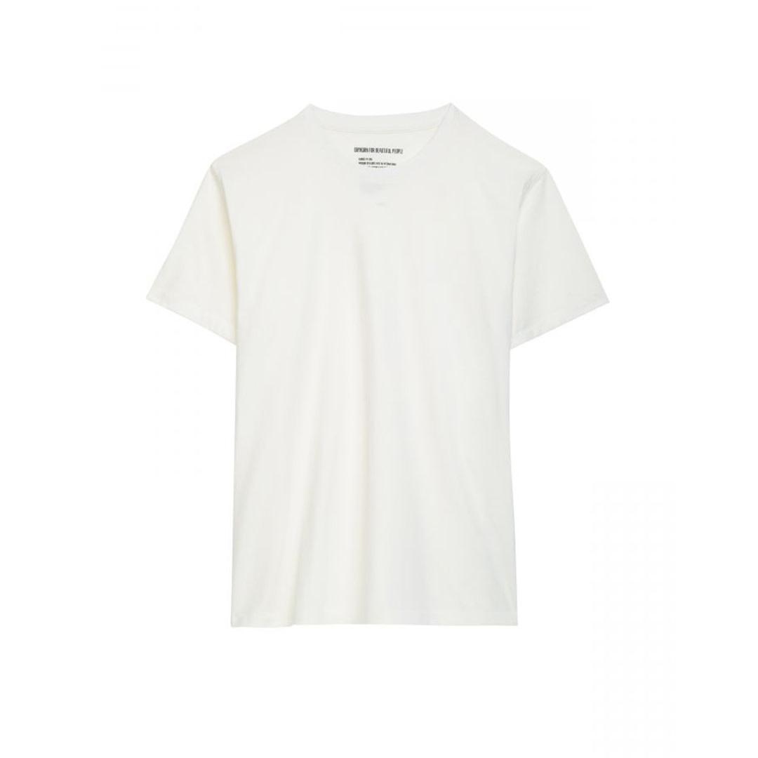 Cotton T-shirt - Beige-1
