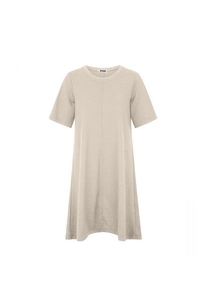 Shortsleeved Dress - Beige