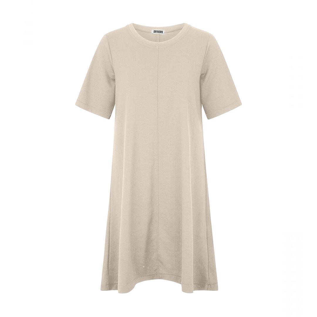 Shortsleeved Dress - Beige-1