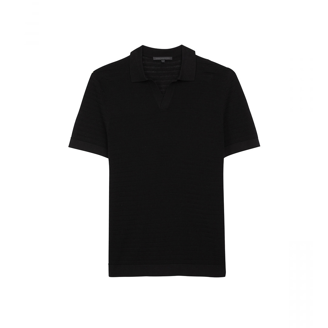 Knitted T-shirt - Black-1