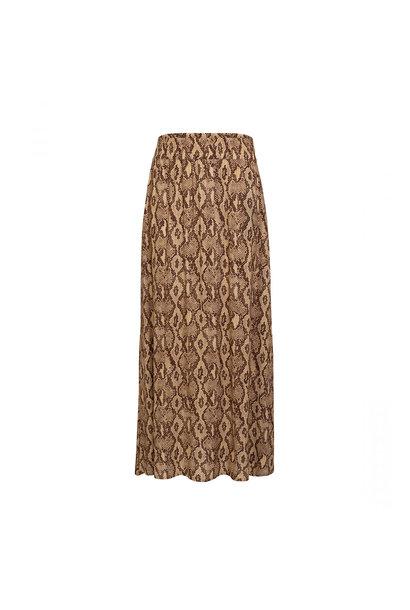 Gasira Skirt - Snake Print Brown
