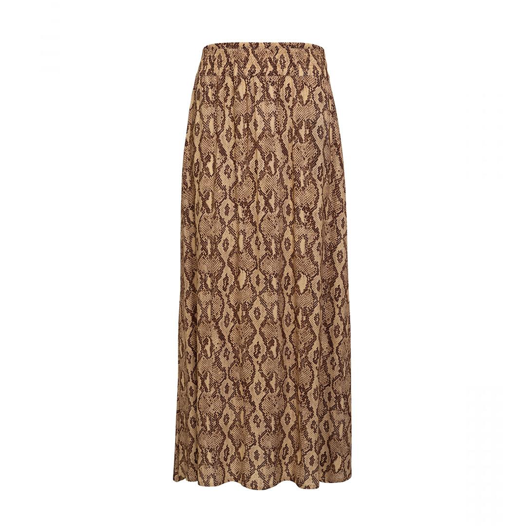 Gasira Skirt - Snake Print Brown-1
