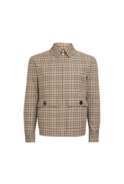 Giv Jacket - Beige-Brown Checked