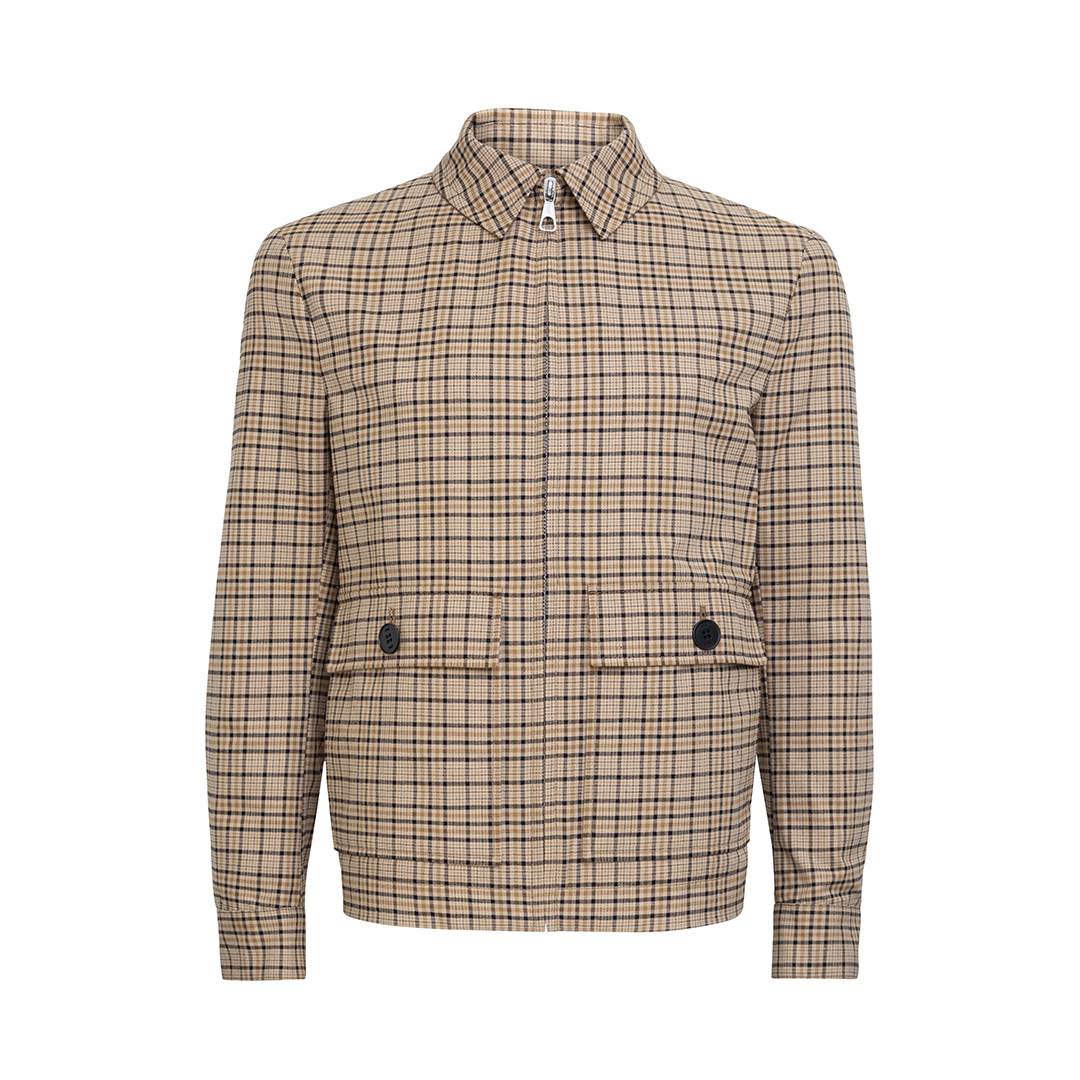 Giv Jacket - Beige-Brown Checked-1