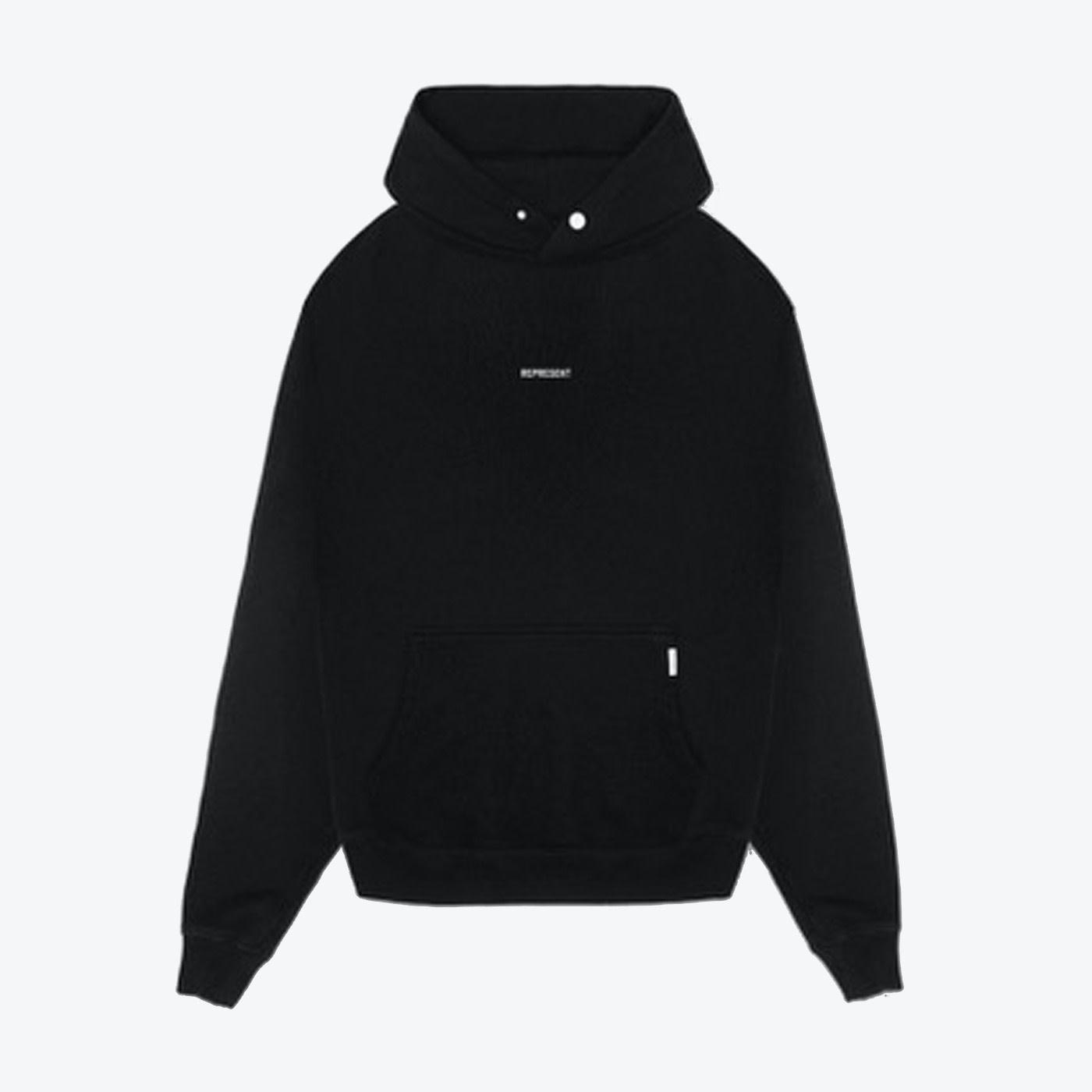 Regular Fit Logo Hoodie - Black-1