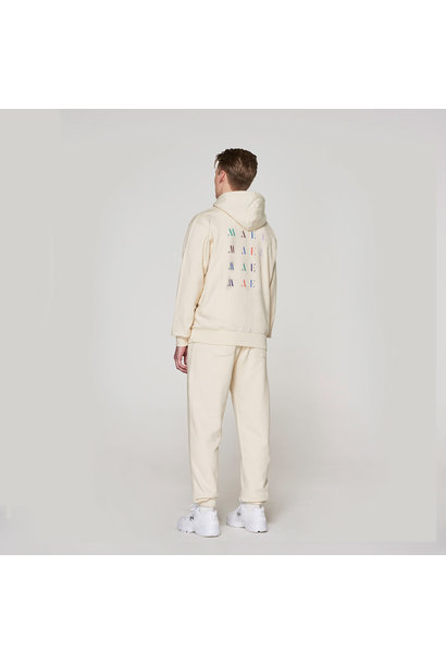 Red Crown + Back Logo Hoodie - Off-White
