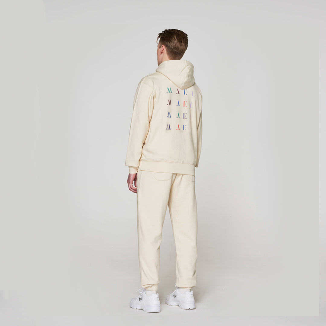 Red Crown + Back Logo Hoodie - Off-White-1