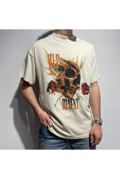 Rep N Resent T Shirt - Vintage White