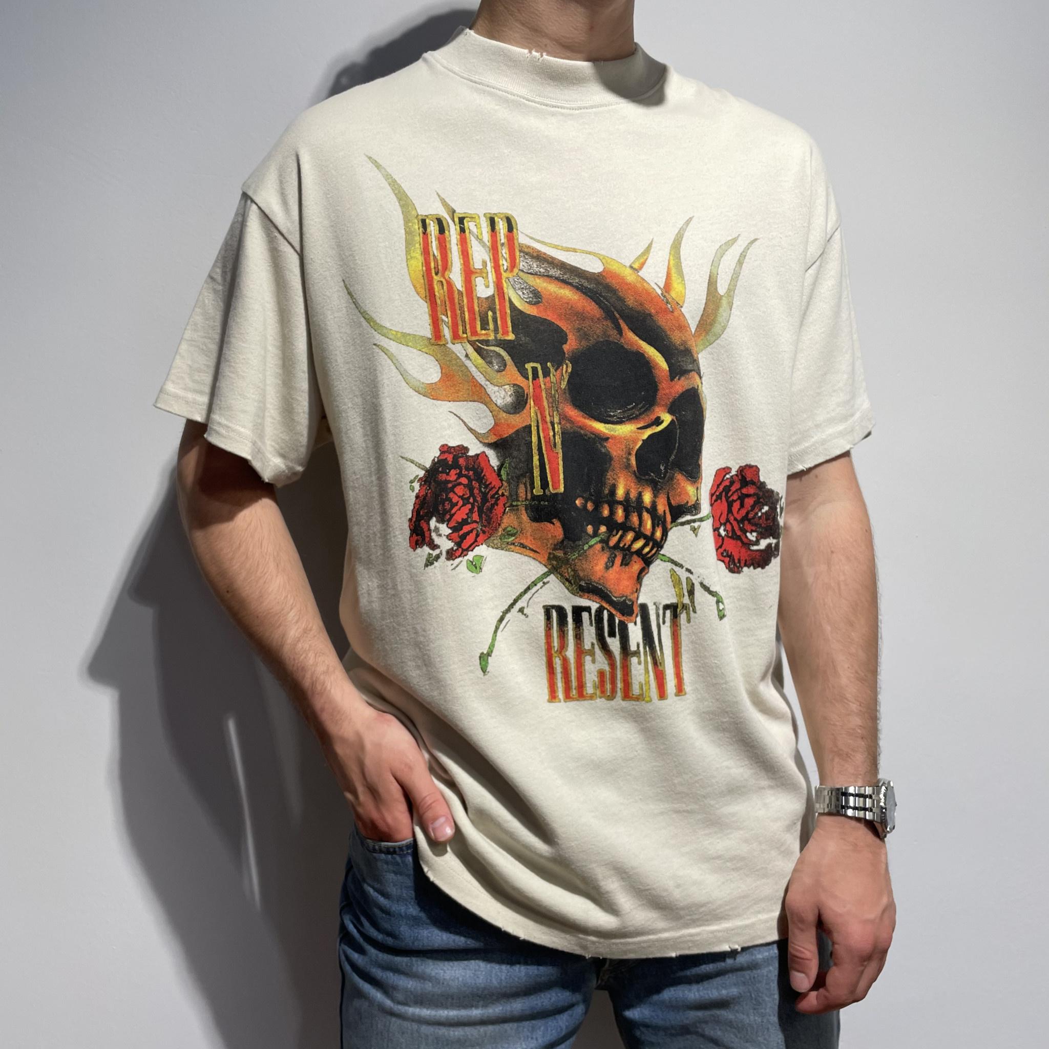 Rep N Resent T Shirt - Vintage White-1