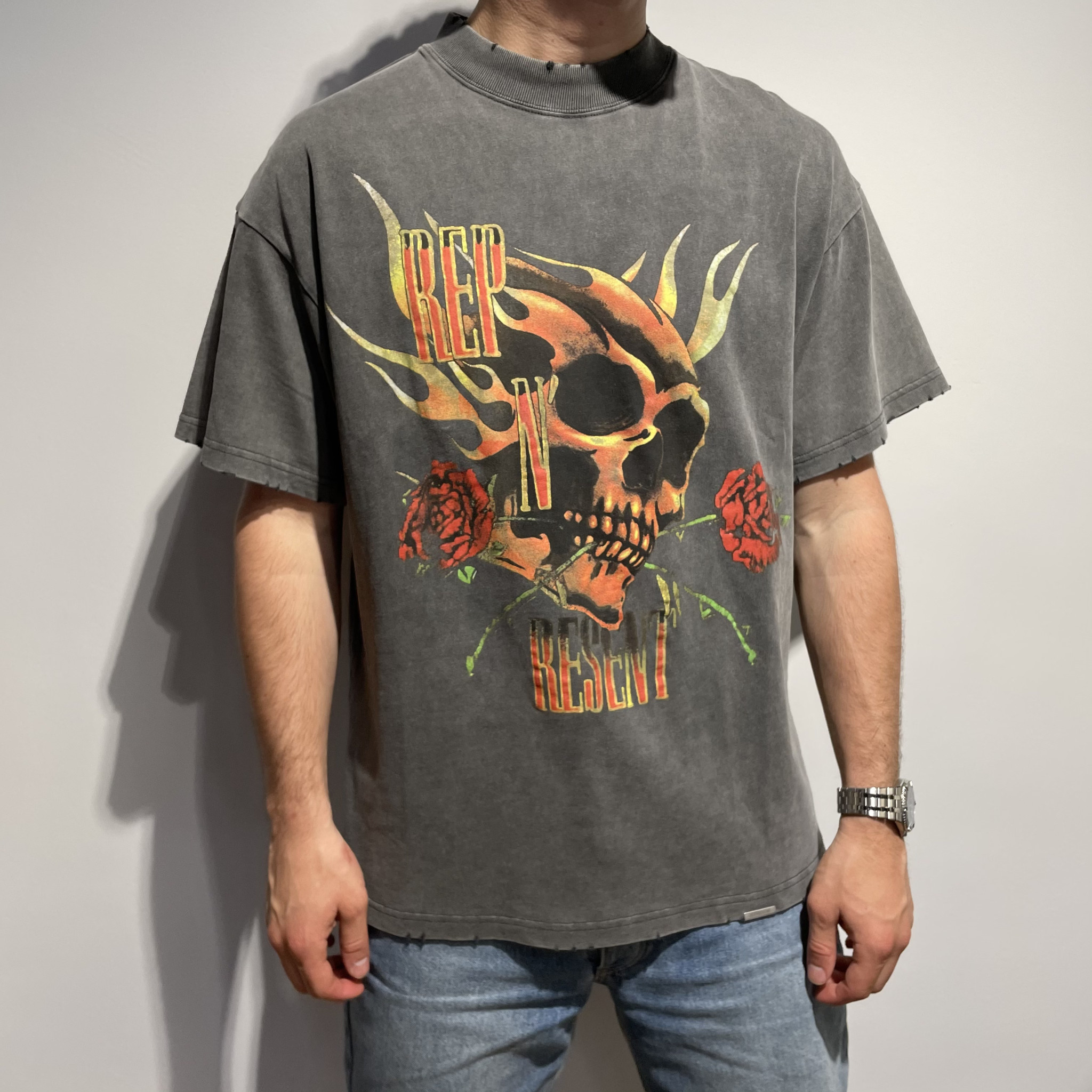 Rep n Resent T Shirt - Vintage Grey-1