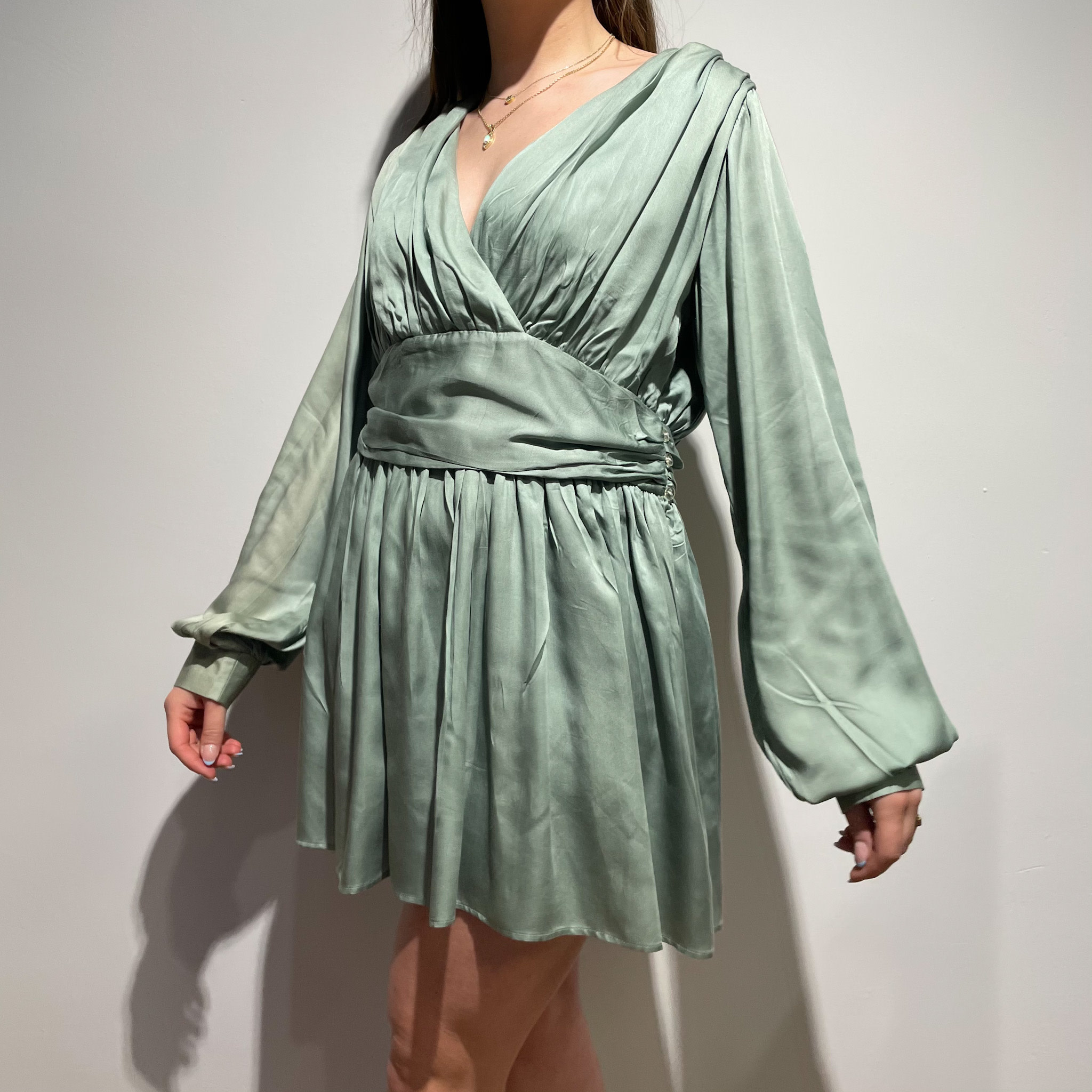 Ramona Dress - Green-2