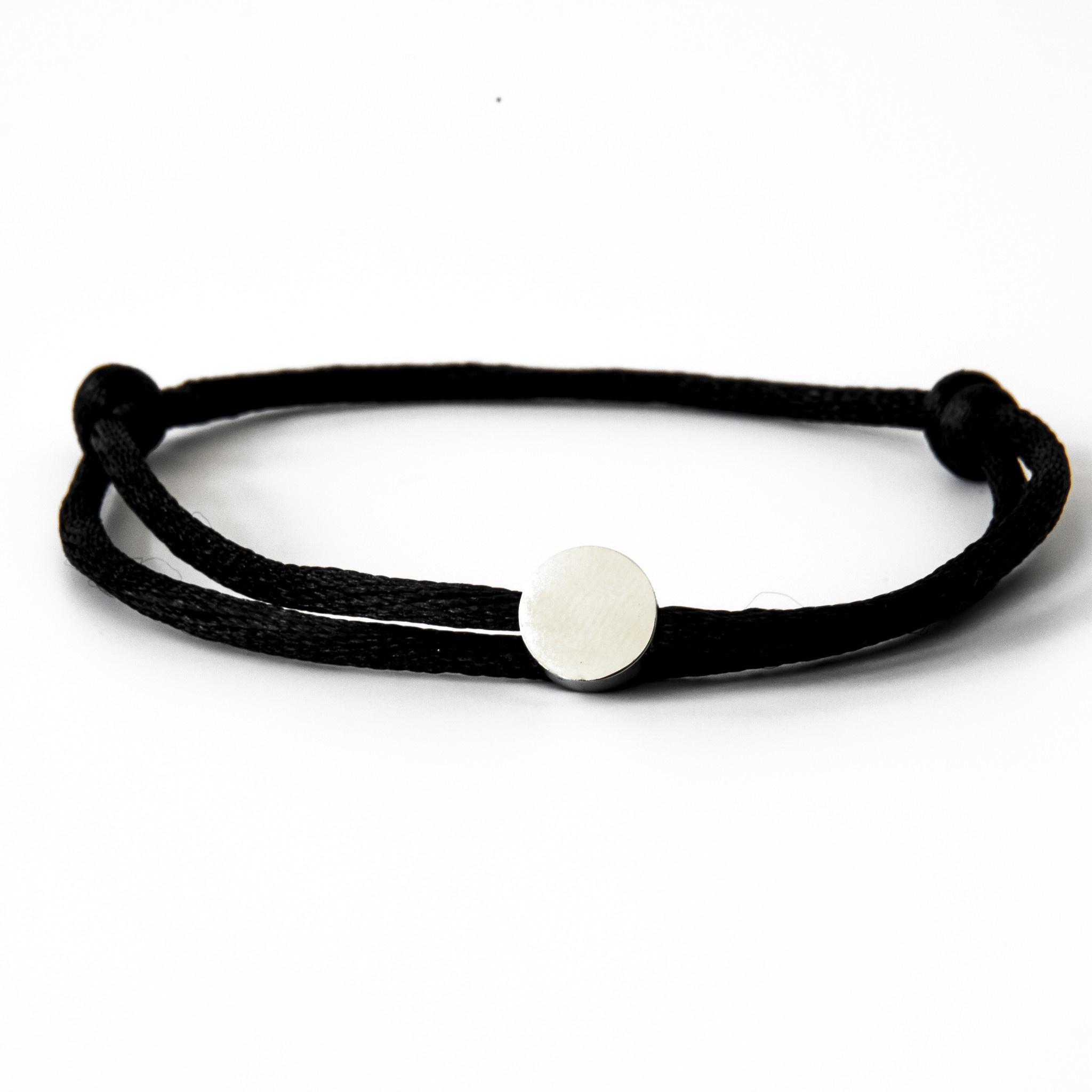Neon Black Circle Silver-2