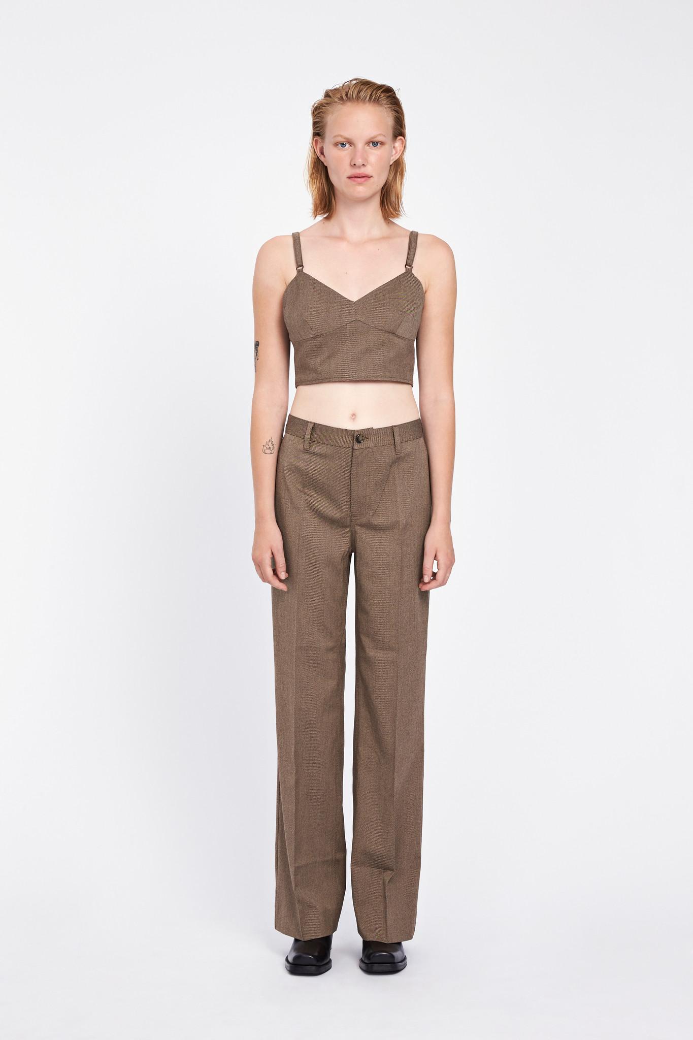 Libby Crop Top - Brown Melange-1