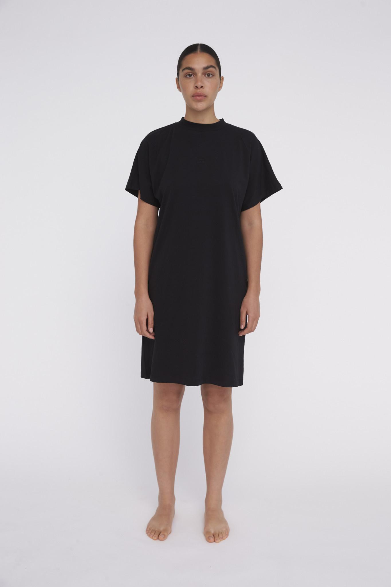 Brooklyn Logo Dress - Black-1