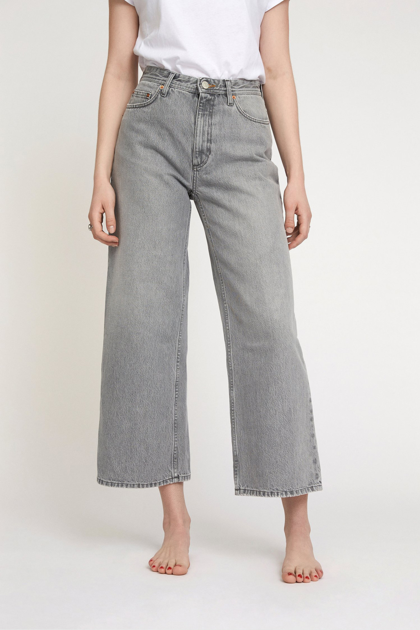 Kiri Flair Jeans - Light Grey-1
