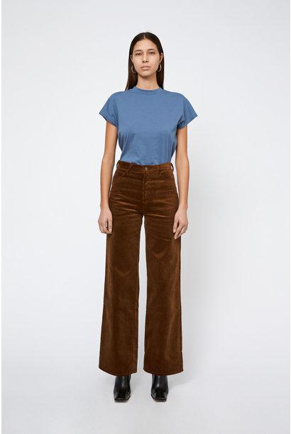 Kiri Long Flair Jeans Corduroy - Toffee