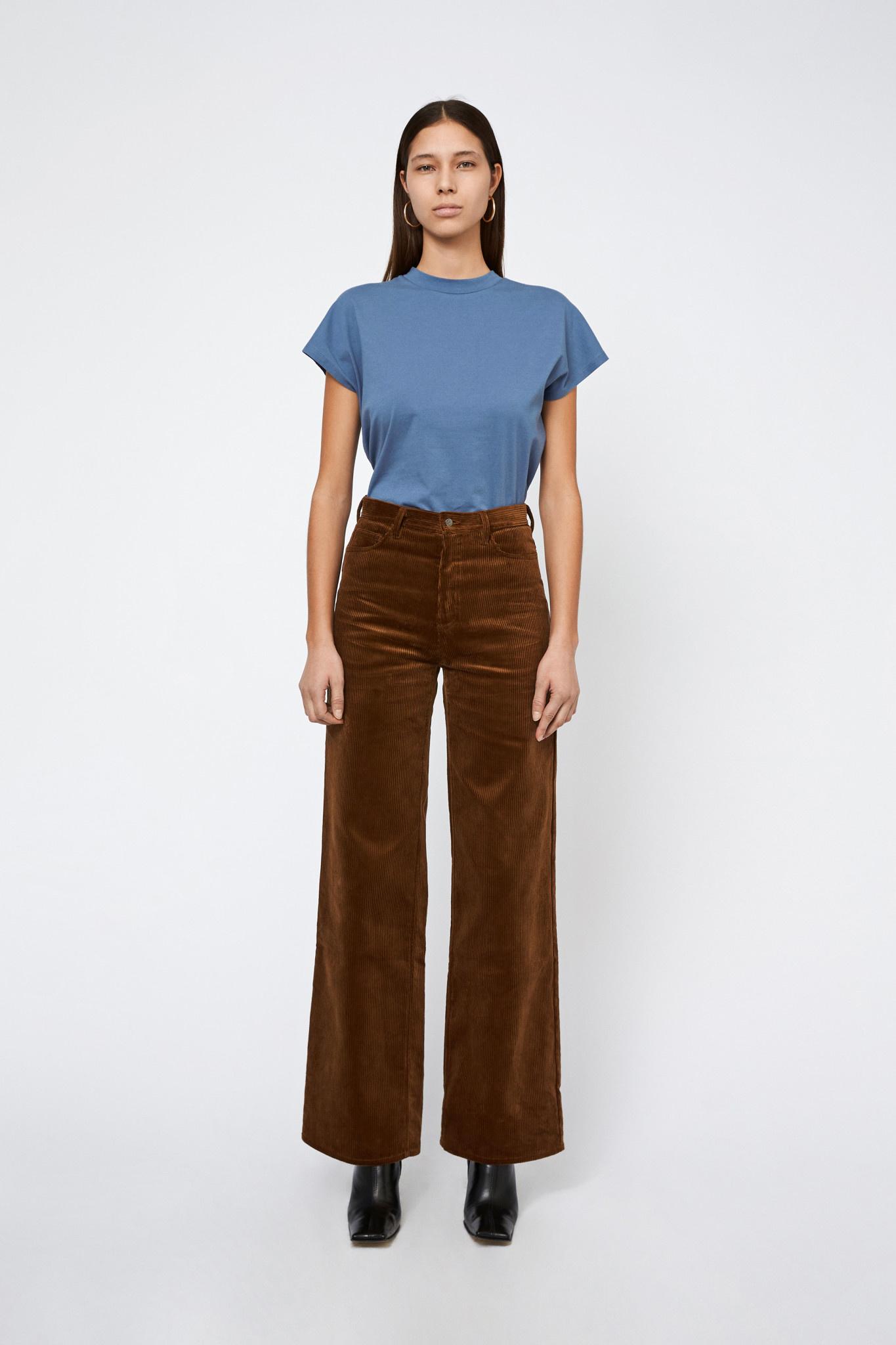 Kiri Long Flair Jeans Corduroy - Toffee-1