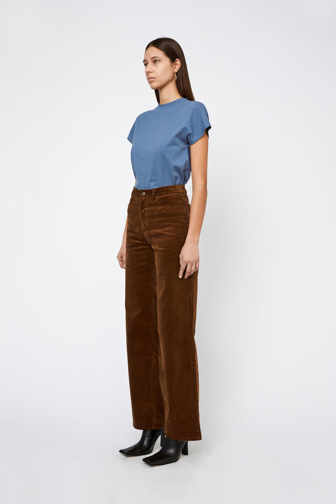 Kiri Long Flair Jeans Corduroy - Toffee-2