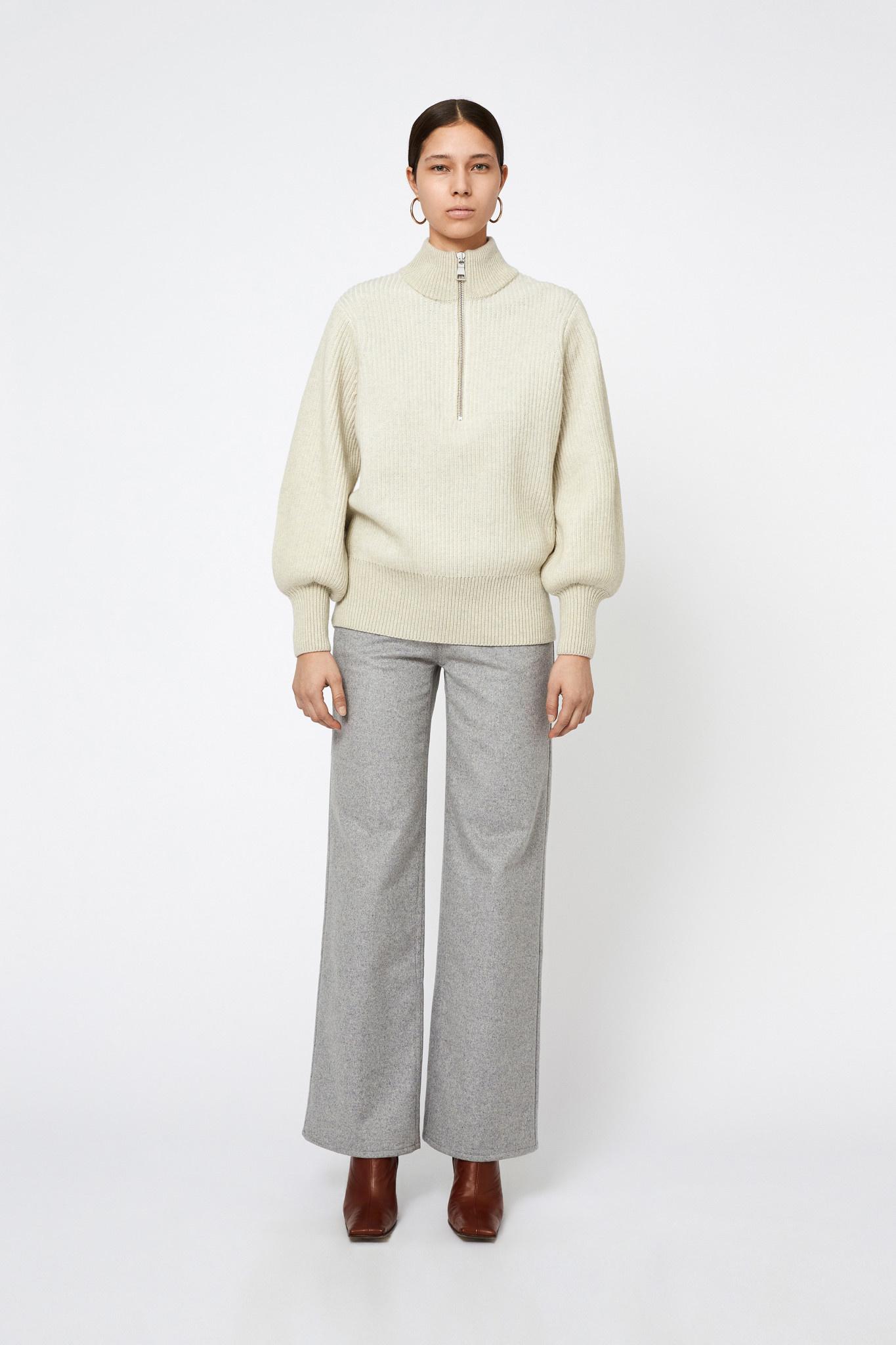 Delaney Merino Wool Longsleeve - Cream-1