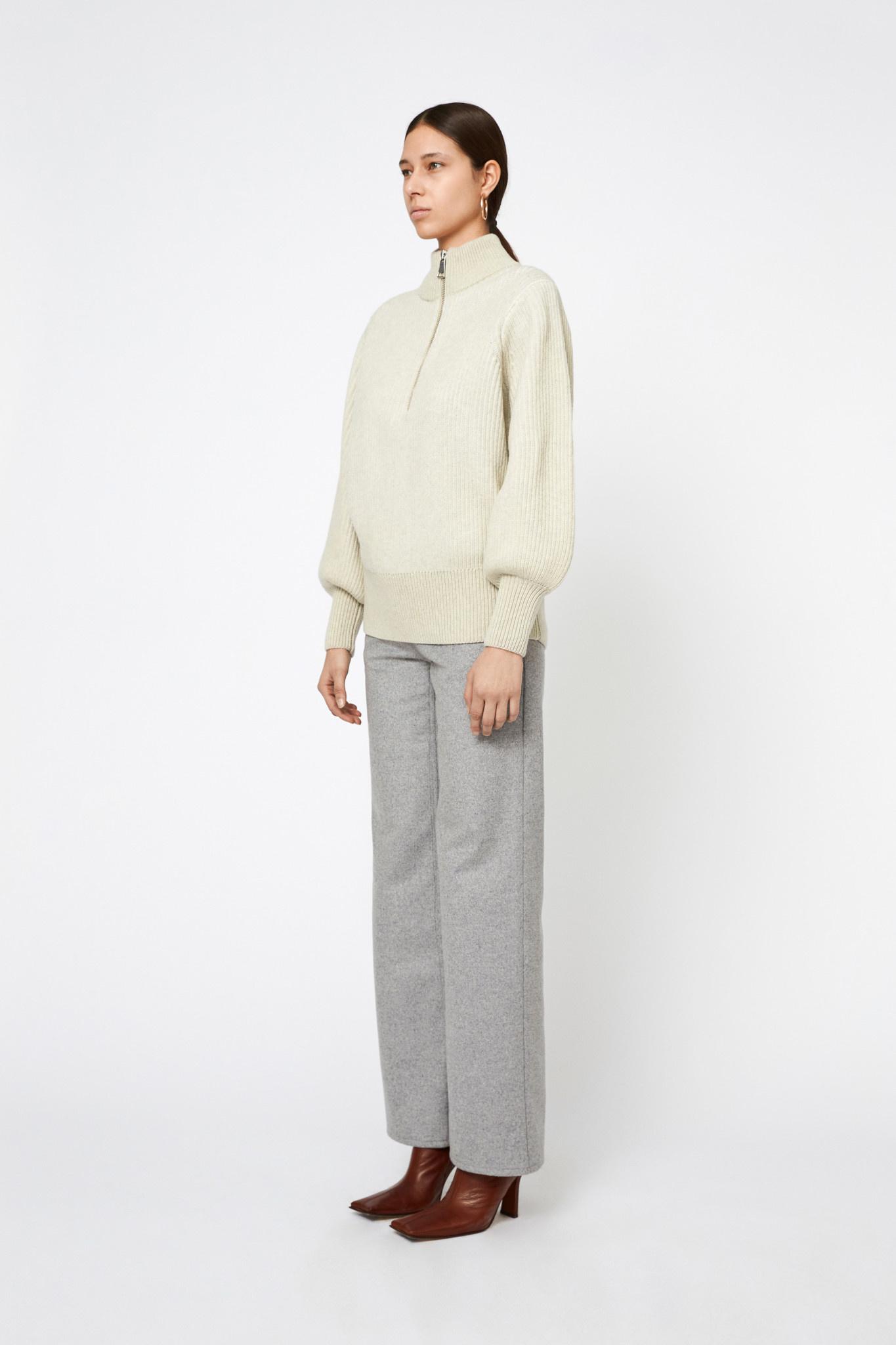 Delaney Merino Wool Longsleeve - Cream-2