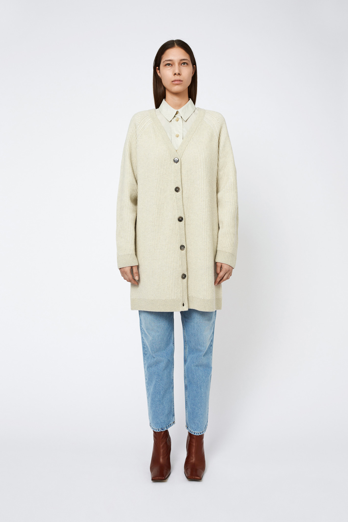 Joanna Merino Wool Vest- Cream-1