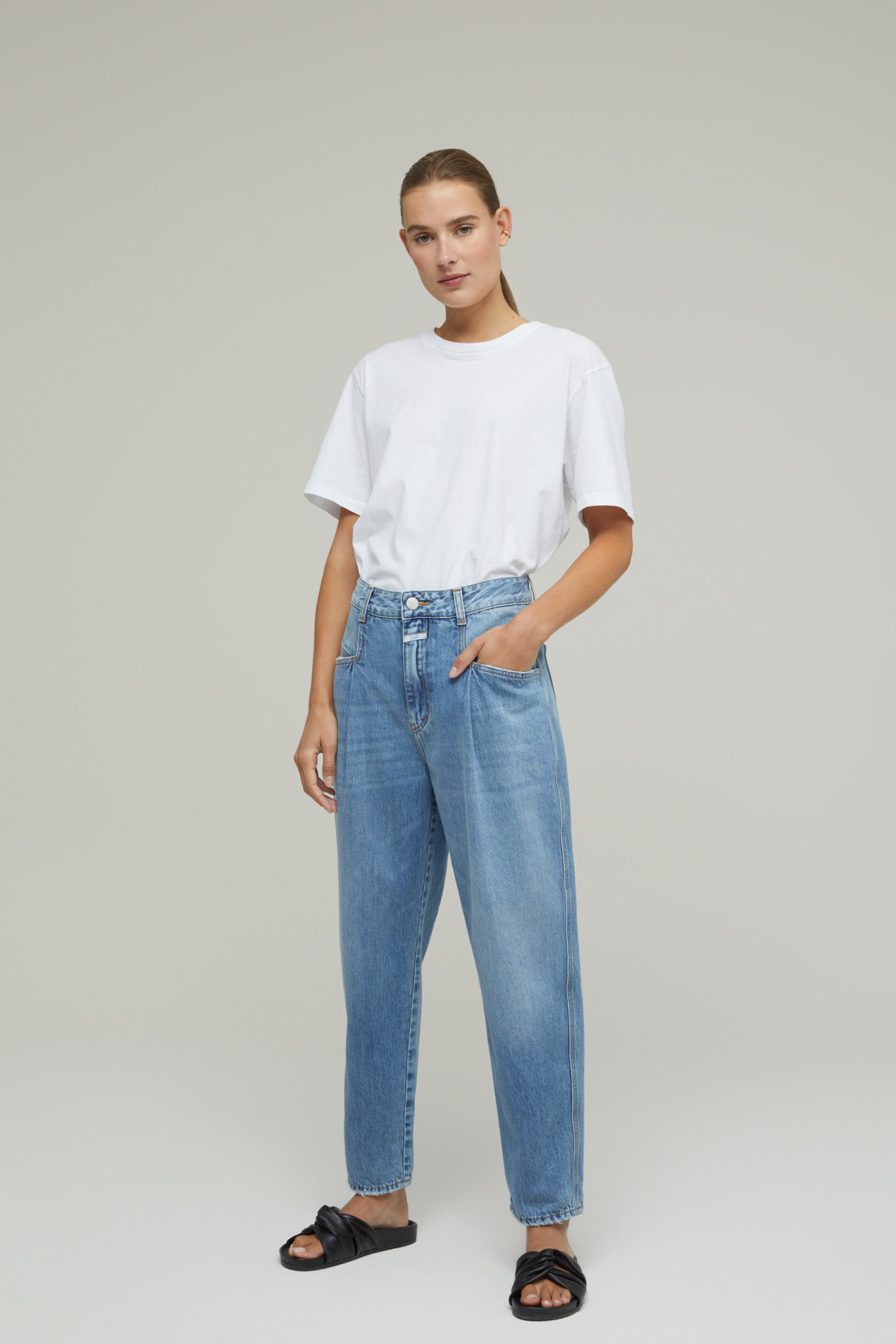 Pearl Jeans - Mid Blue-1