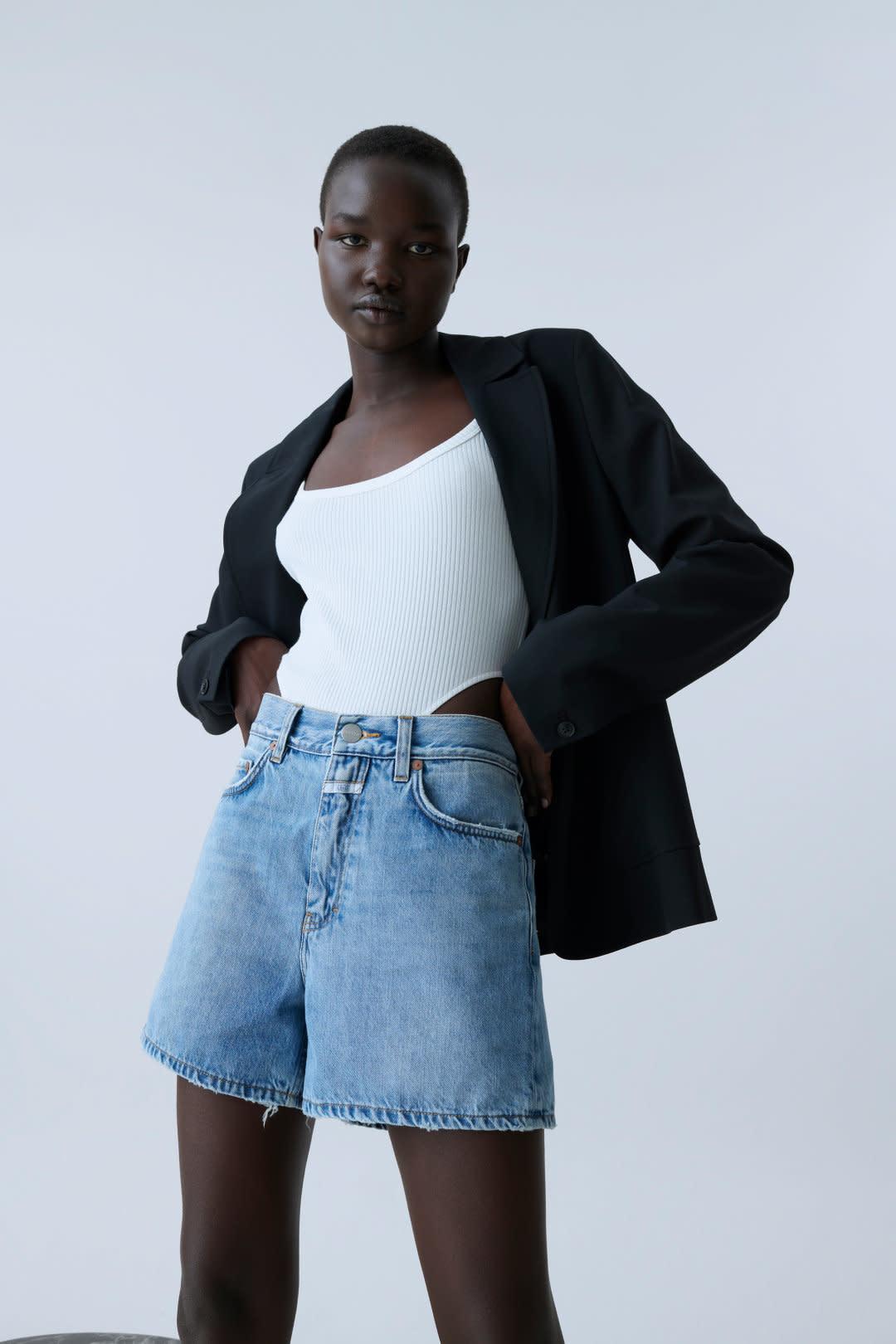 Denim Shorts - Mid Blue-1