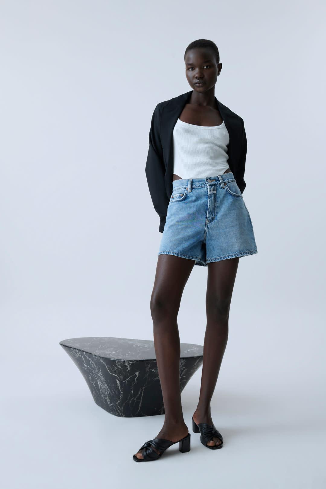 Denim Shorts - Mid Blue-2