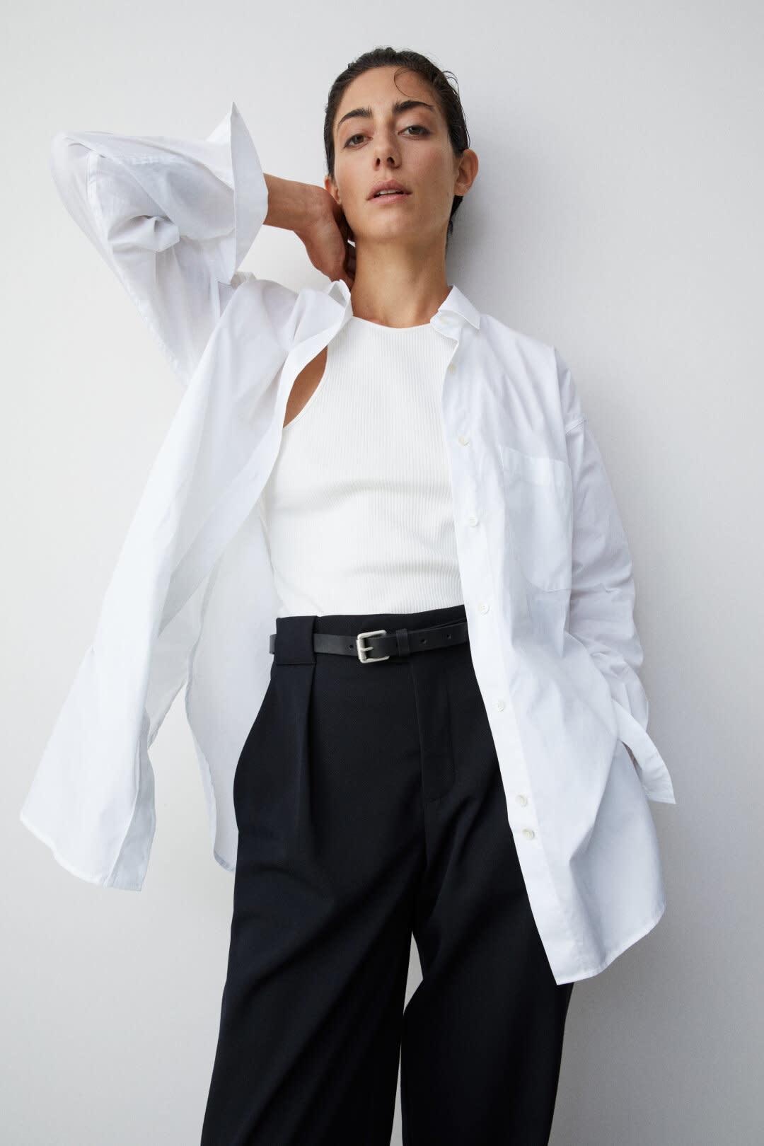 Mira Poplin Shirt - White-2