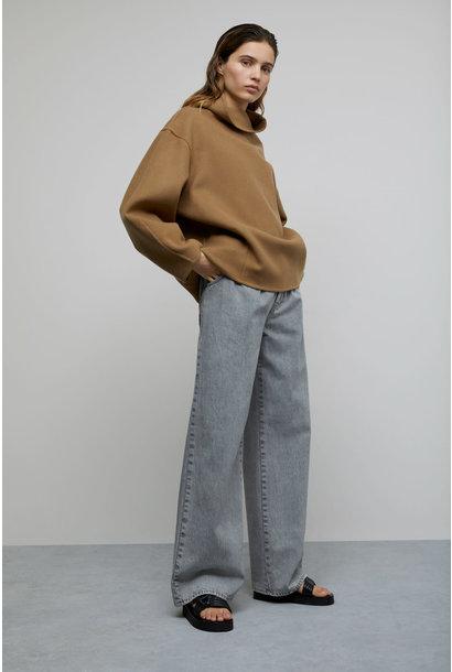 Wool Cashmere Overshirt - Dark Tan