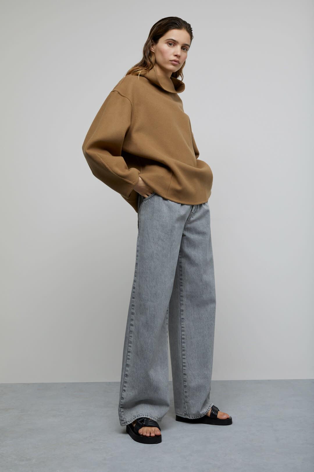 Wool Cashmere Overshirt - Dark Tan-1