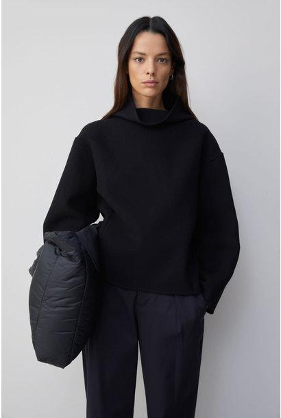 Wool Cashmere Overshirt - Black