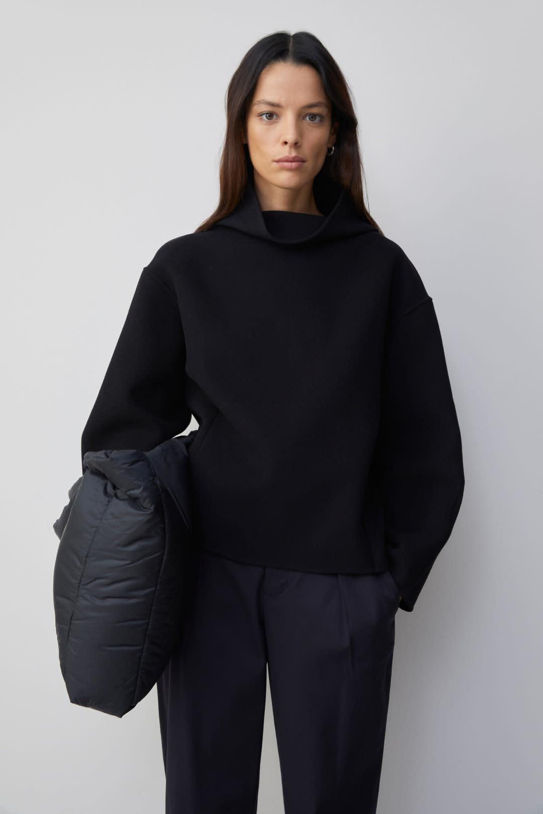 Wool Cashmere Overshirt - Black-1